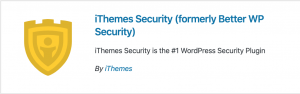 Screenshot of iThemes Security listing in WP Plugin Search